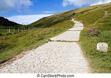 Coastal path Lulworth to Durdle - South-West coastal path...