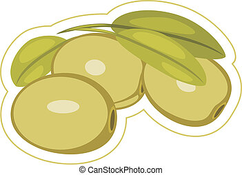Olives. Label isolated on the white