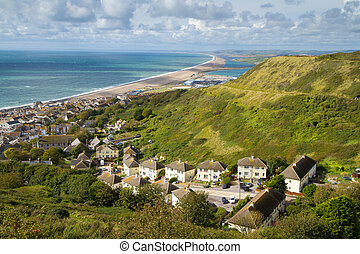 Portland and Chesil beach Dorset, part of the Devon and...
