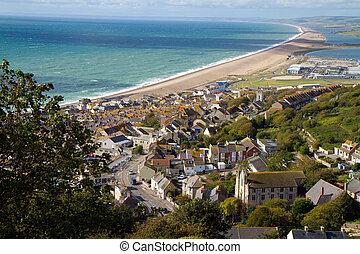 View of Portland and Chesil beach - Portland and Chesil...