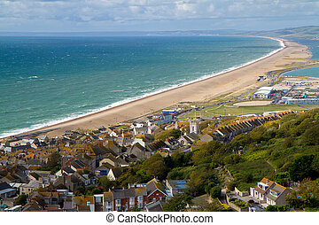 Chesil beach Dorset - Portland and Chesil beach Dorset, part...