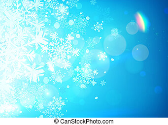 Winter background - illustration of Blue abstract background...