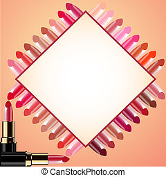 background for message lipstick and probes - illustration...