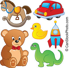 Various toys collection 1 - vector illustration