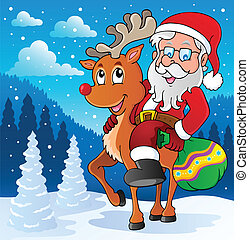 Santa Claus thematic image 2 - vector illustration