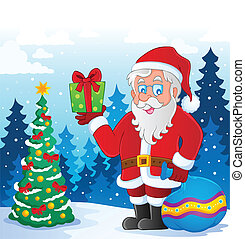 Santa Claus thematic image 5 - vector illustration.