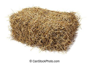 Hay - Studio shot of hay, isolated on white.