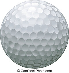 isolated golf ball - close up illustration of isolated golf...