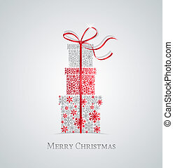 Christmas presents - Elegant Christmas background with gift...