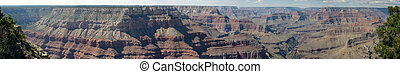 grand canyon panoramic - panoramic view of the grand cayon...