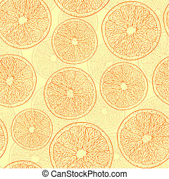 abstract oranges - Vector Illustration of seamless pattern...