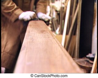 FURNITURE RESTORATION smoothing - Working in a furniture...