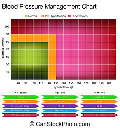 Blood Pressure Management Chart - An image of a blood...