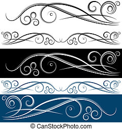 Swirl Banner Set - An image of a swirl banner set