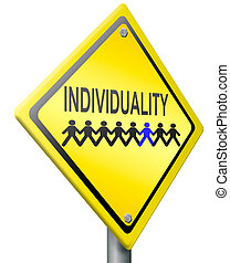 individuality personality and own character different from...