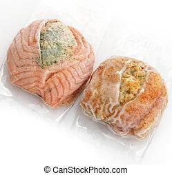 congelado, pez, Filetes