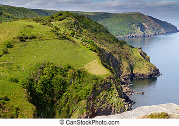 North Devon tourist attraction - Valley of Rocks near Lynton...