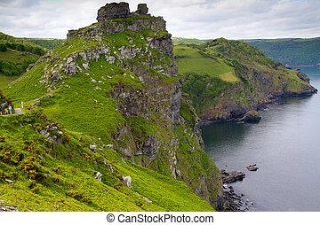 Valley of the Rocks near Lynton in Devon. It is a popular...
