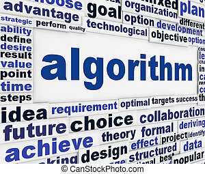 Algorithm technical poster design Effective solution message...