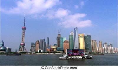 shanghai landmark - shanghai skyline