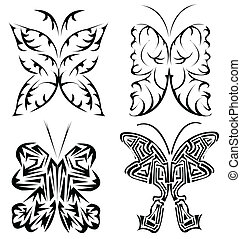 beautifull butterfly tattoo set