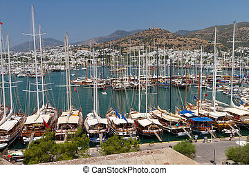 Bodrum Marina from Mugla, Turkey
