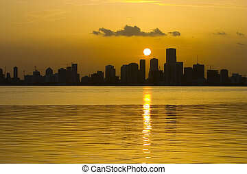 Sunset over Miami Beach - Beautiful Sunset over Miami beach...