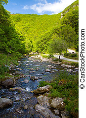 Watersmeet Devon England - Lynmouth to Watersmeet walk along...