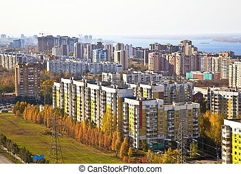 Sleeping area of social housing in the city of Samara....