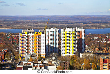 New Social apartment buildings in the residential area of...
