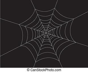 Spider Web White On Black