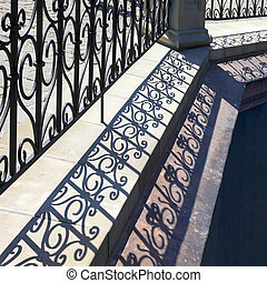 Lattice shadows. - Lattice shadows pattern. Diagonal...