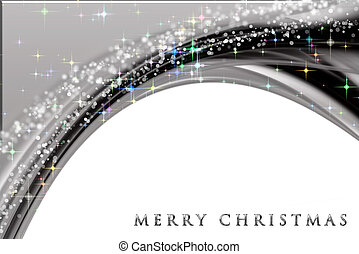 Fantastic Christmas wave design with snowflakes and glowing...