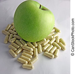 Apple green on the pads of the sick