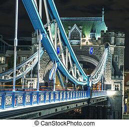 Bridzs, bástya,  London, Megvilágít, Éjszaka