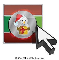 christmas online button