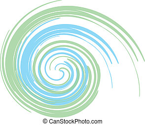 Green And Blue Swirl - colorful abstract swirl design