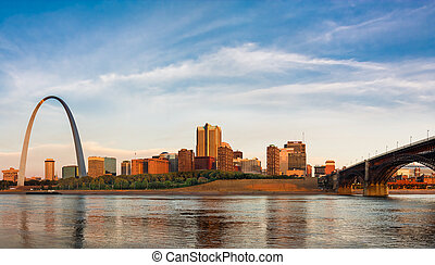 St Louis The Arch and Eads Bridge