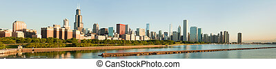 Large panorama of the Chicago Skyline