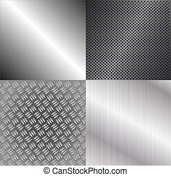 Set of metallic backgrounds
