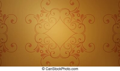 Flourish Star - A flourish pattern slowly moves against a...