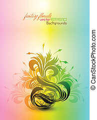Fantasy Floral Composition