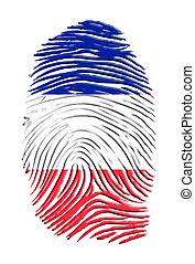 French  Flag Finger Print
