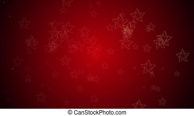 Stars - Stylish stars continuously fall against a red...