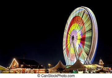 Marksmen festival Hannover, Germany - Ferris wheel at the...