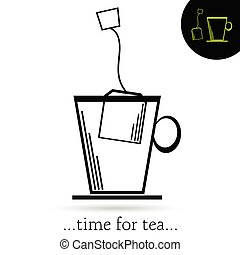 time for tea vector illustration