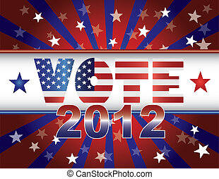 VoteStarsStripesBannerColorV - Vote Presidential Election...
