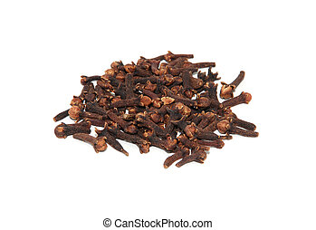 Whole cloves, isolated on a white background