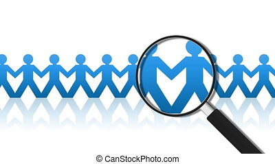 Recruitment - Magnifying Glass searching for the perfect...