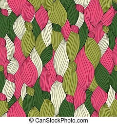 seamless pattern from color hair and lines - seamless...
